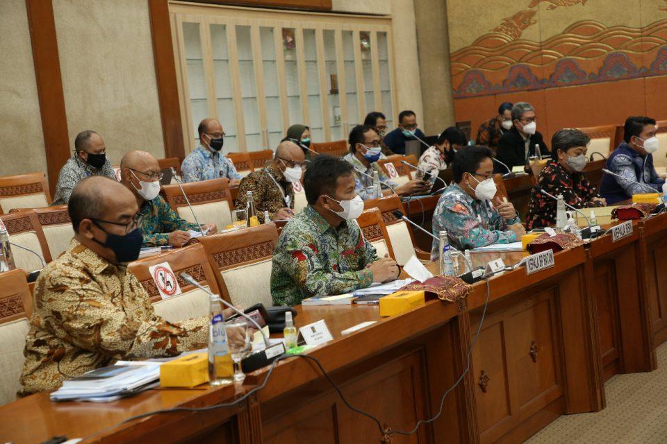 BP Batam Laporkan Realisasi Anggaran 2021 Dalam RDP Bersama Komisi VI DPR RI (foto : hms)